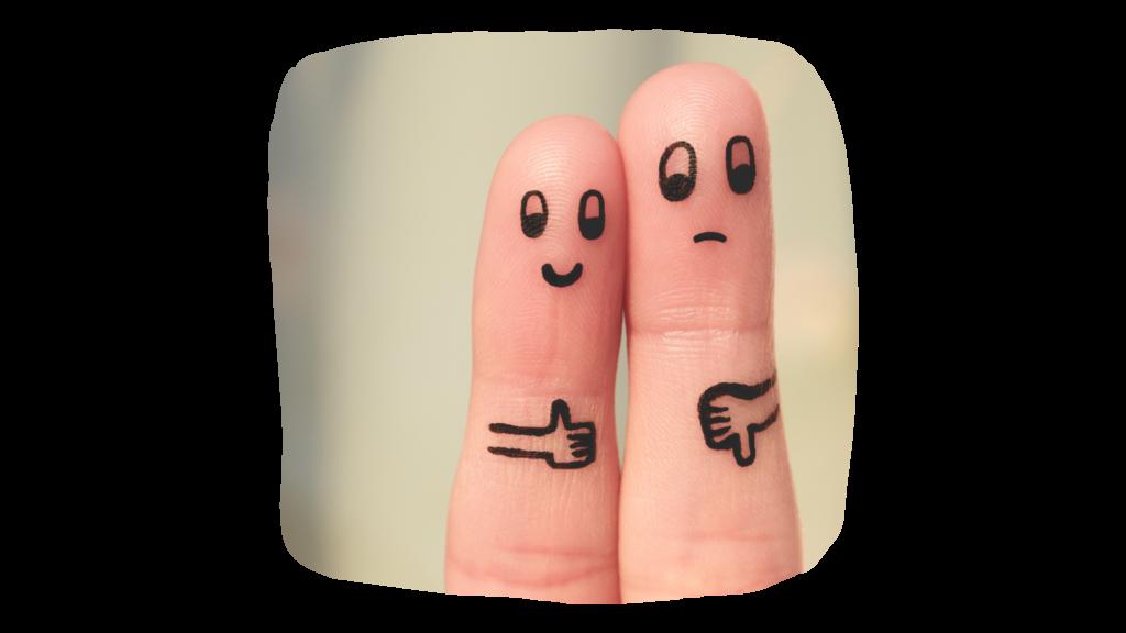 זוג אצבעות בויכוח